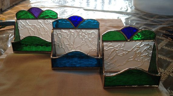 Stained Glass Business Card Holder by QTSG on Etsy