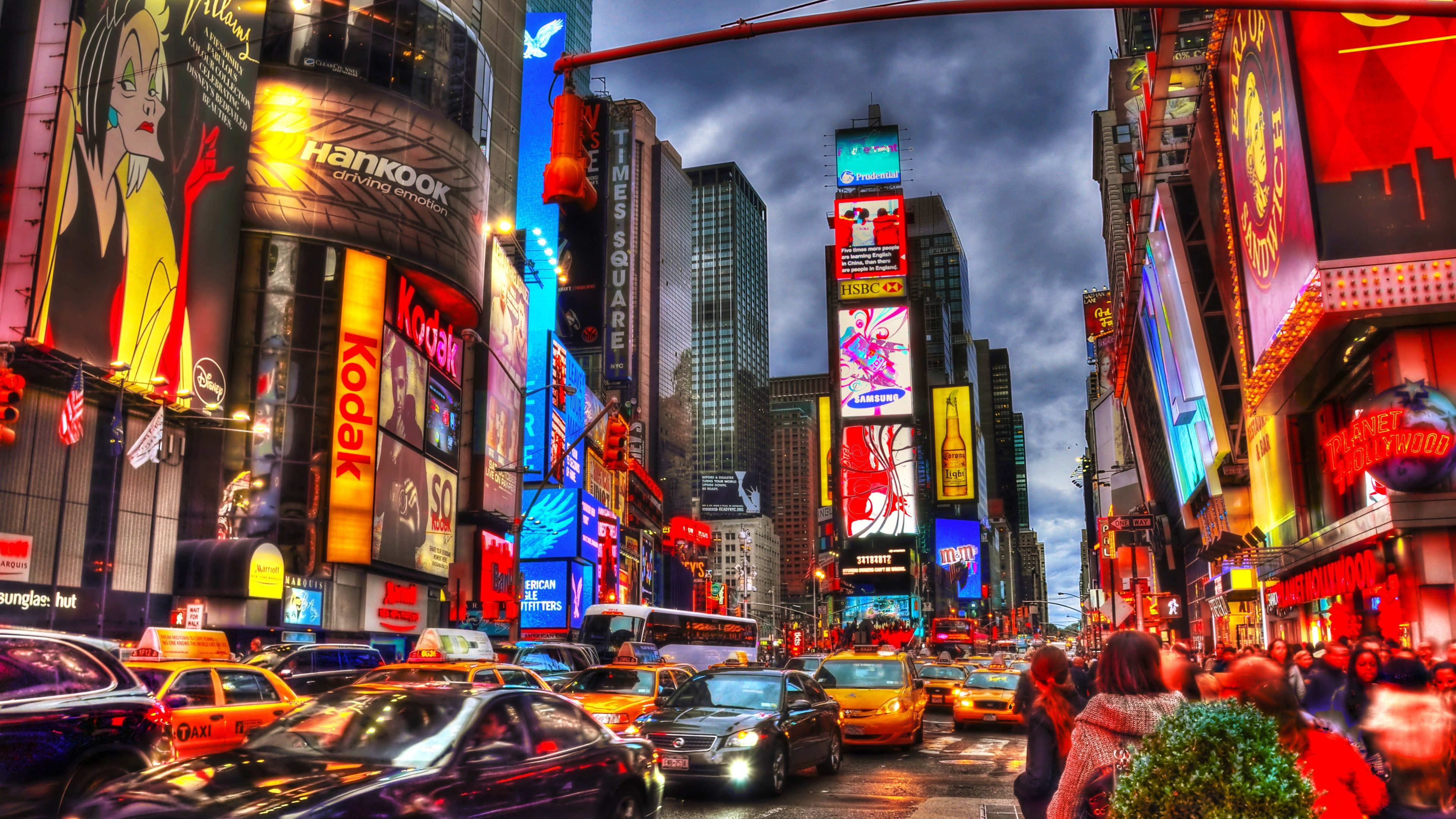 New York City Times Square Night Skyscrapers Shops Lights Cars People New York Cit Times Square Wallpaper New York Wallpaper Times Square Photography