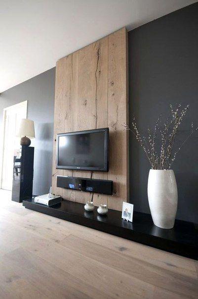 Coin télé | Idée salon | Salon maison, Mur tv et Murs de télévision