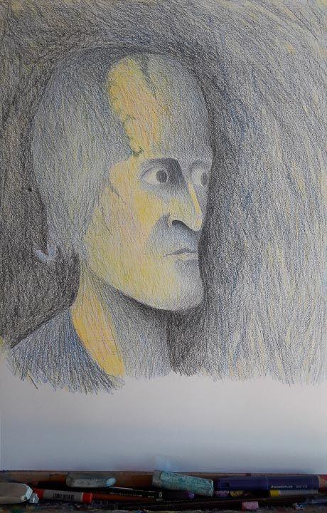Der Alte Mann und das Portrait    https://bodenseekuenstler.de/pan-kreas-portrait-des-alten-mannes/