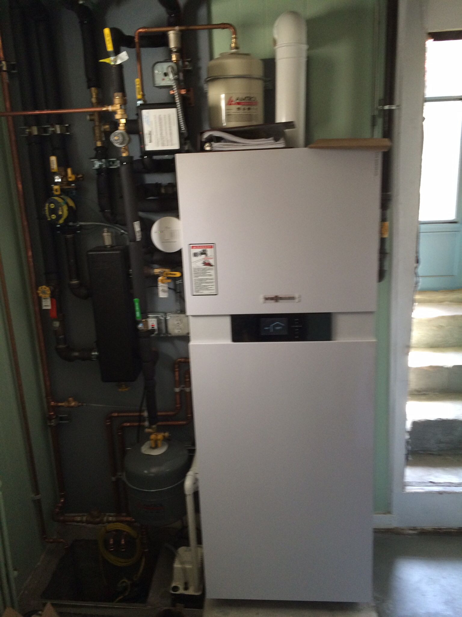 Viessmann virodens 222F combi boiler installation in Sunset Park ...