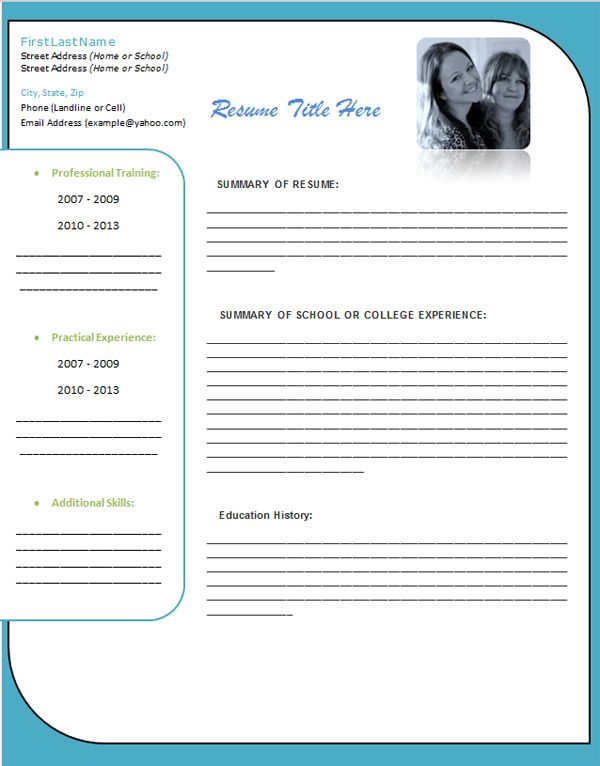 Word 2013 Resume Template Image Result For Ms Word Premium Template  Website Layout