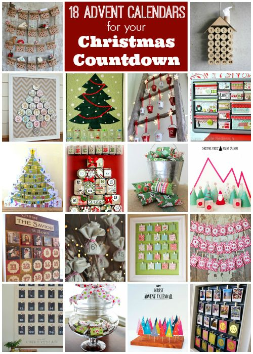 i love holiday advent calendars theyre fun for kids and adults these diy advent projects would be so fun to complete before the holidays - Christmas Countdown Ideas