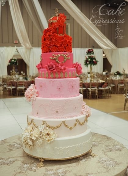3 1 2 Foot Tall Ombre Wedding Cake For Maria And Dino I Love