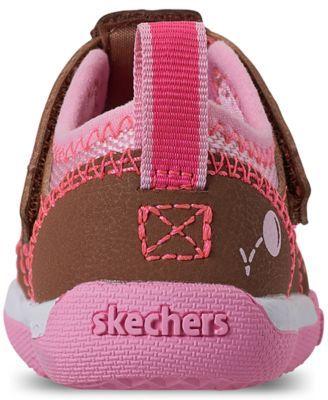 38d9311e8d3ab Skechers Toddler Girls' Flex Play - Solar Steps Athletic Sandals from  Finish Line - CHESTNUT/PINK/WHITE 7