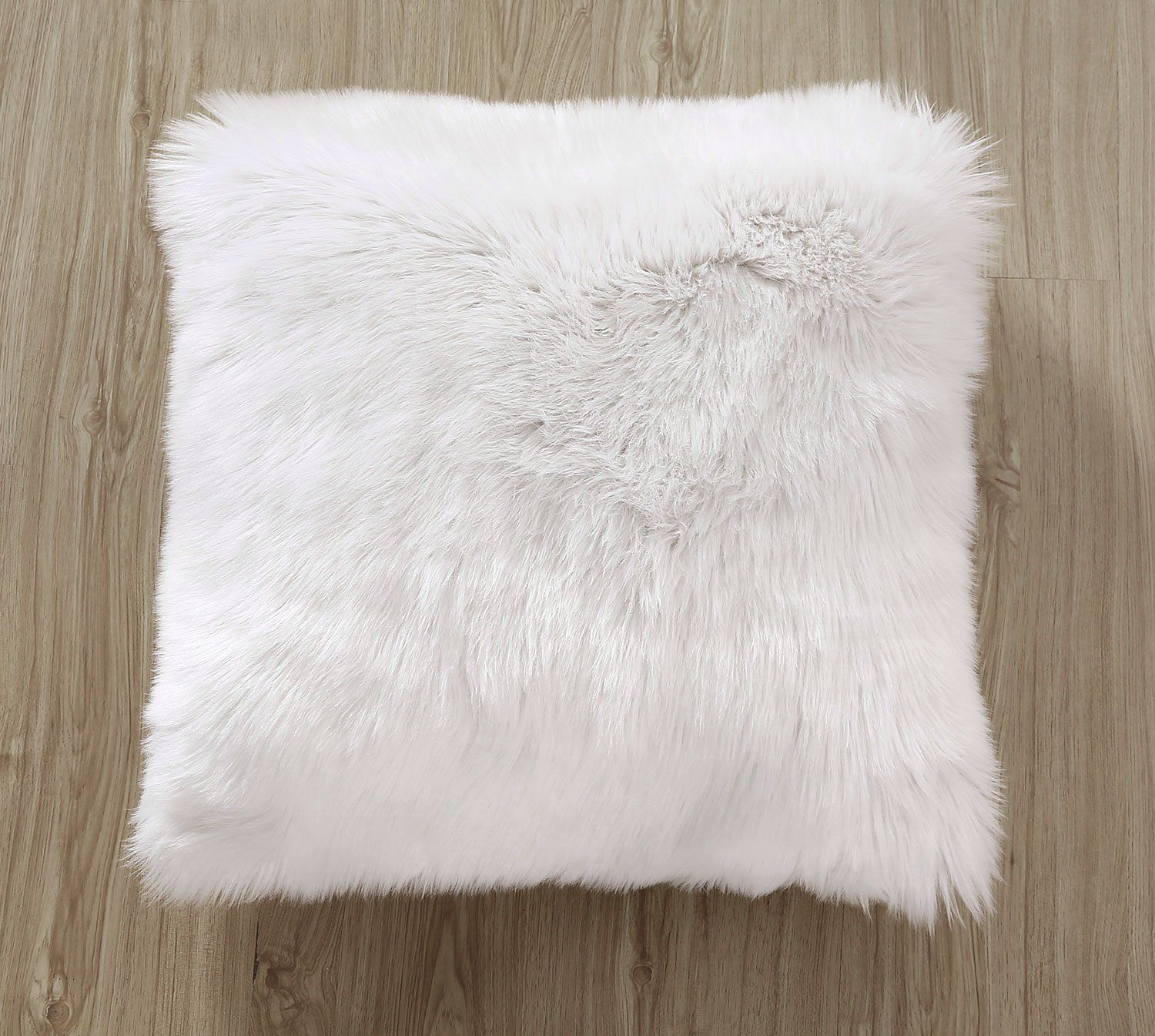 pillow brown fur fieldcrest faux pillows pin euro