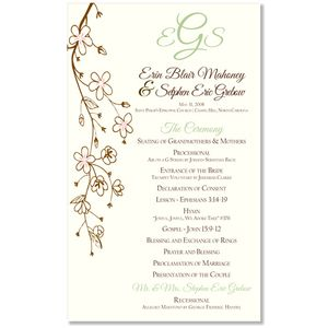 Wedding ceremony program invitations archives the wedding wedding ceremony program invitations archives the wedding specialists stopboris Image collections