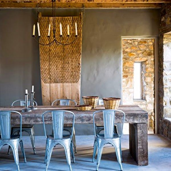 Purple Area - boho chic - tolix chairs - dinning room