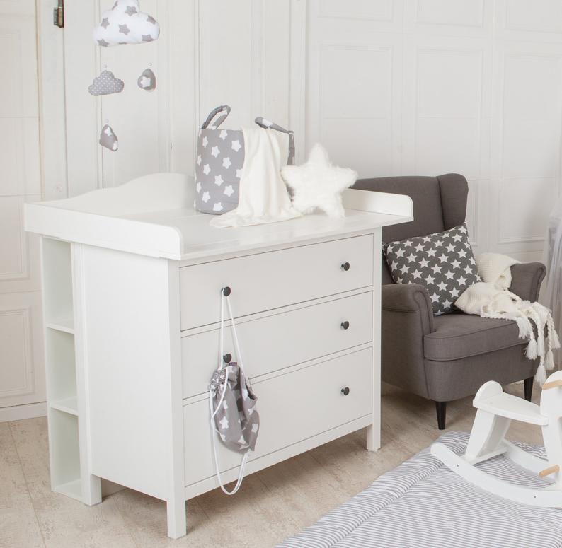 Puckdaddy Etagere De Rangement Pour Derriere La Commode Hemnes Etsy Baby Room Shelves Ikea Hemnes Dresser Ikea Hemnes Chest Of Drawers