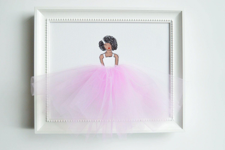 African American Nursery Decor Nursery Ballerina By