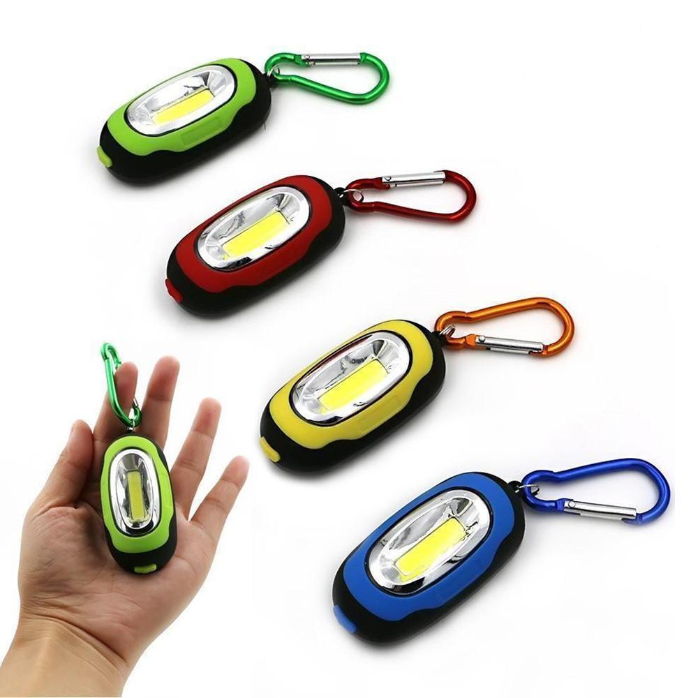 Mini Waterproof Carabiner Keyring Key Chain Light LED Flash Light Torch Lamp