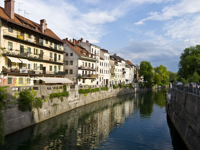 Always romantic Ljubljanica river
