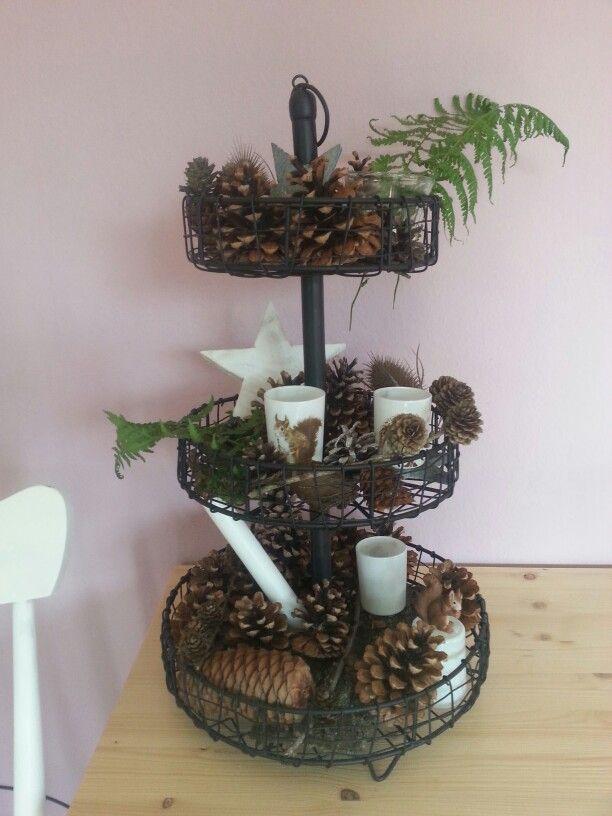 Herbst Etagere Draht Tannenzapfen | Meine Deko | Pinterest ...