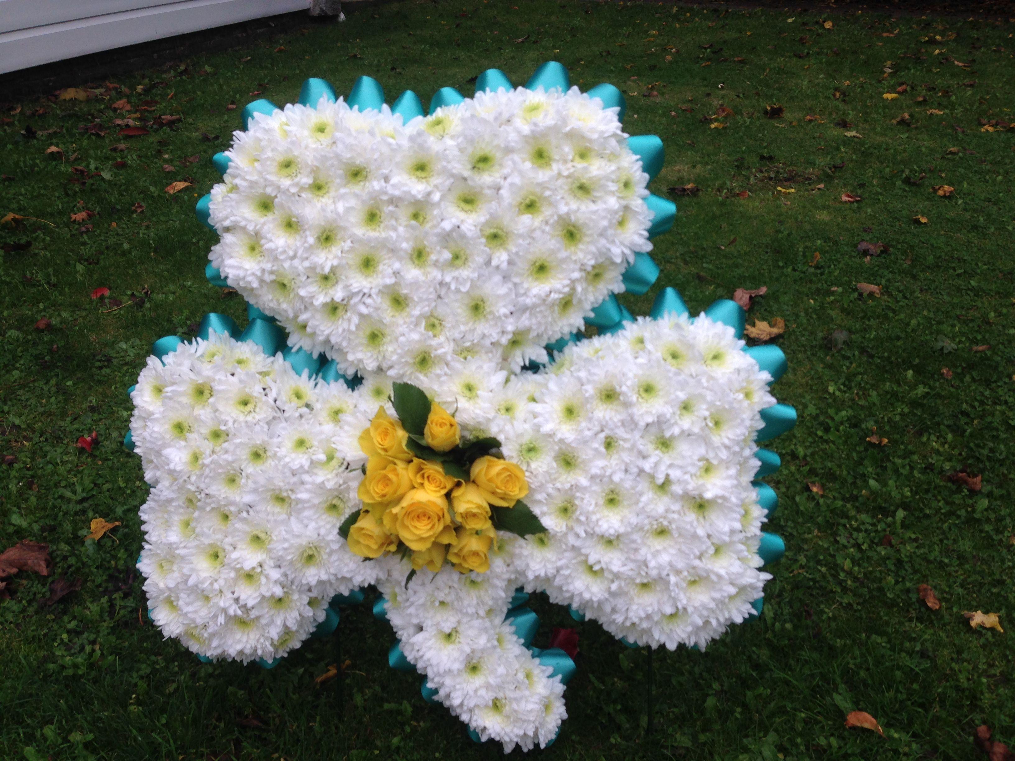 Shamrock flower tribute westwood flowers sympathy funeral shamrock flower tribute izmirmasajfo