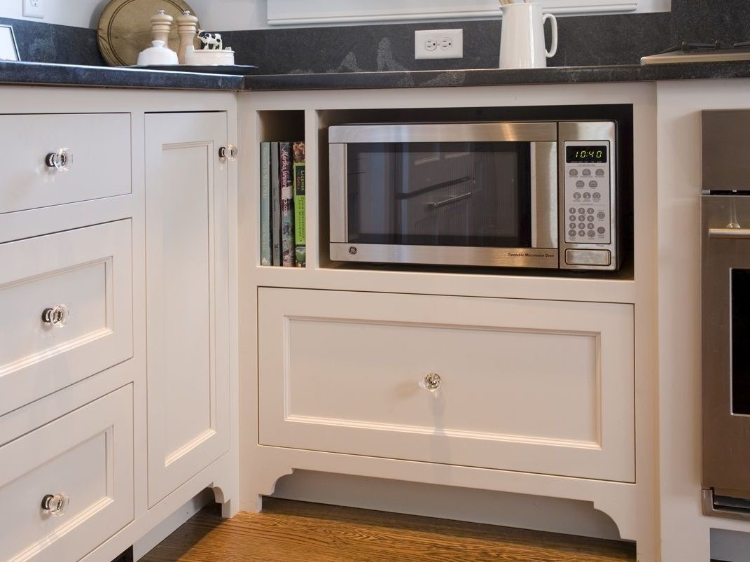 Under Cabinet Microwaves Work Really Well For Some Folks Microwave In Kitchen Microwave Cabinet Ikea Kitchen