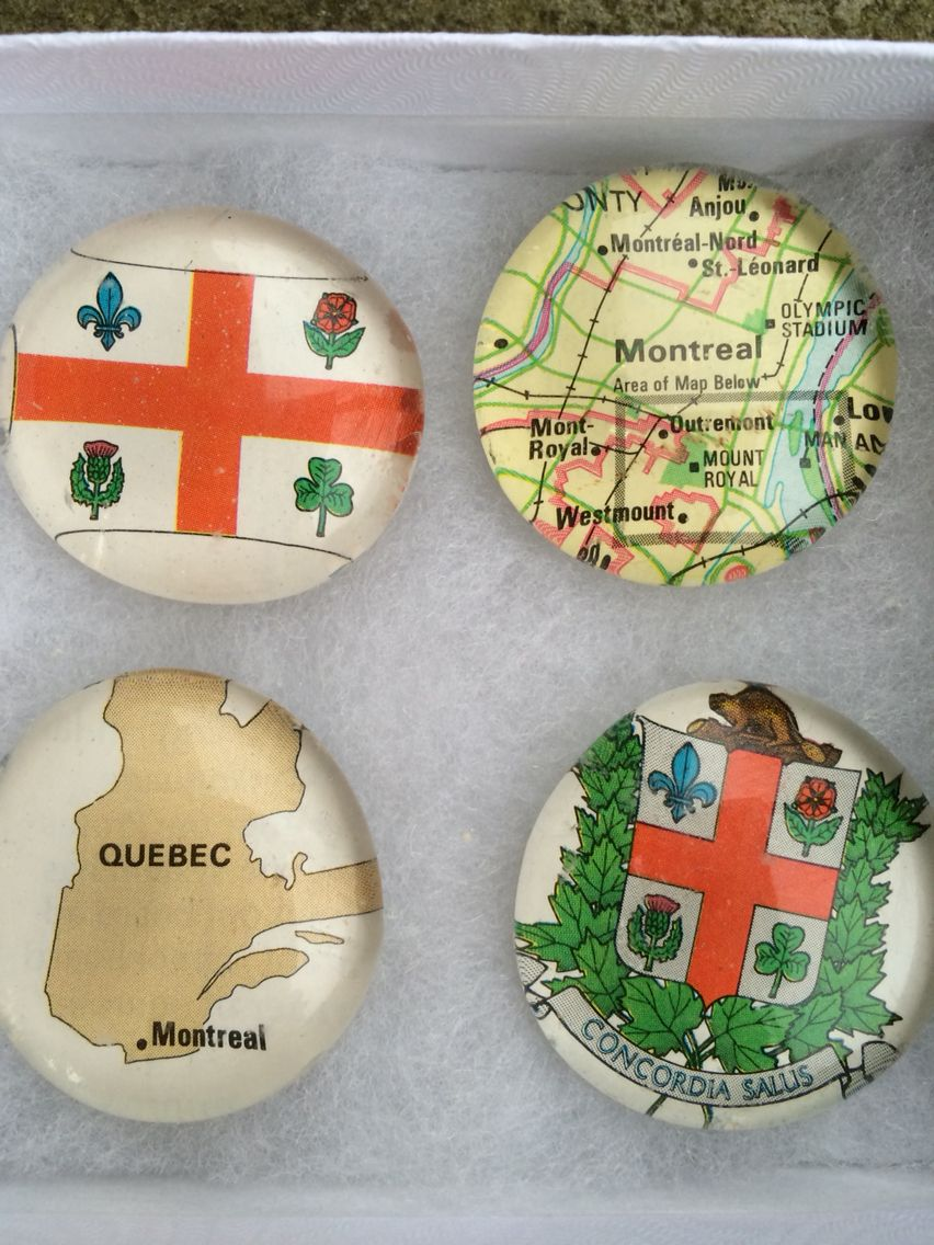Montreal glass magnets. Loved visiting here!