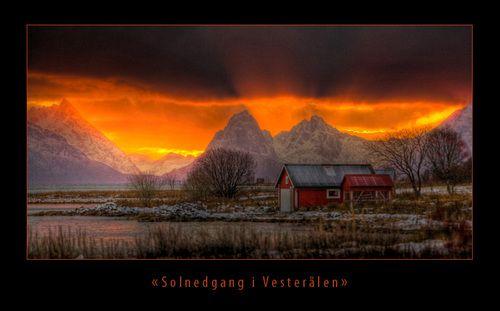 Solnedgang i Vesterålen