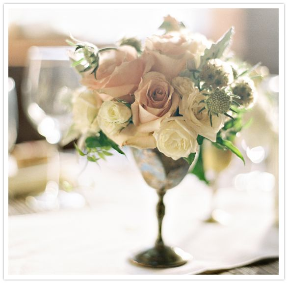 Perfect Flowers In Tarnished Vintage Silver