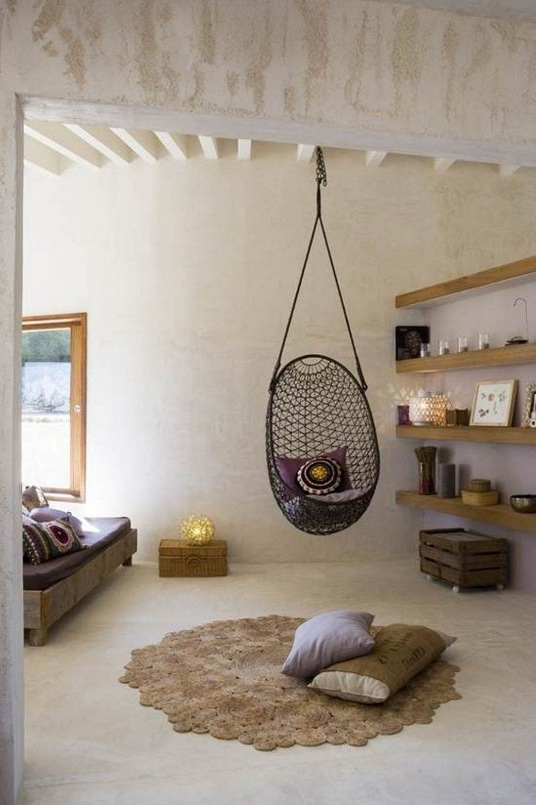 14 Awesome Indoor Hammock Ideas For A Lazy Sunday Morning Bedroom Two Person Hanging Chair Swing Chair For Bedroom Bedroom Hanging Chair Indoor Hanging Chair