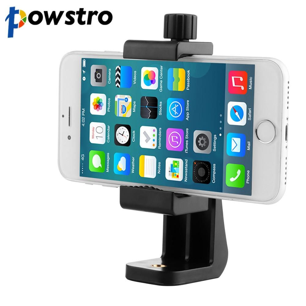 Powstro Universal Tripod Mount Cell Phone Clipper Vertical