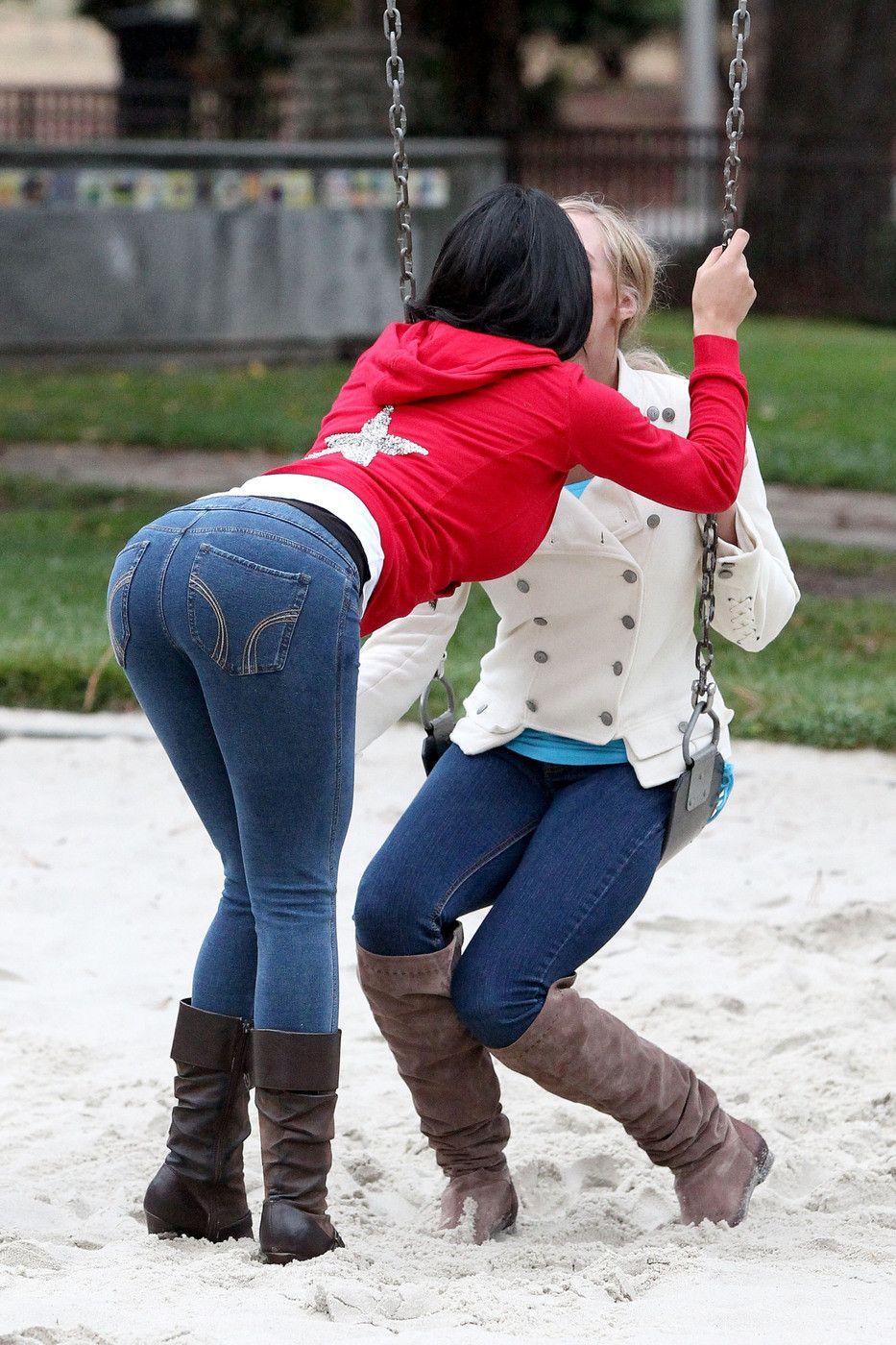 Kiss lesbian outdoor