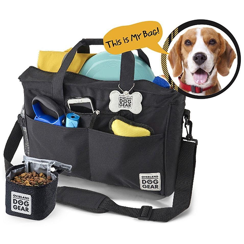 Overland Dog Gear Day Away Tote Bag In Black Dog Travel Bag Dog