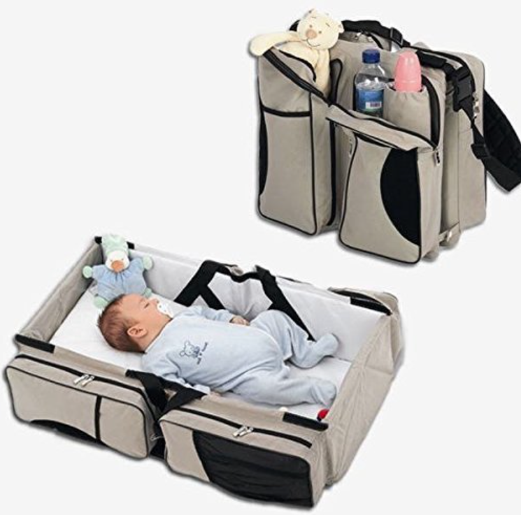 Travel Portable Foldable Baby Crib Bag Infant Diaper Nursery Changing 2in1 Bed