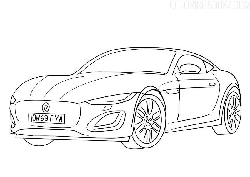 Coloring Pages Jaguar Car Display