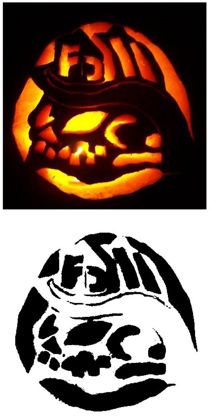 Scary Face Pattern Pumpkin   Pumpkin carving, Diy pumpkin ...
