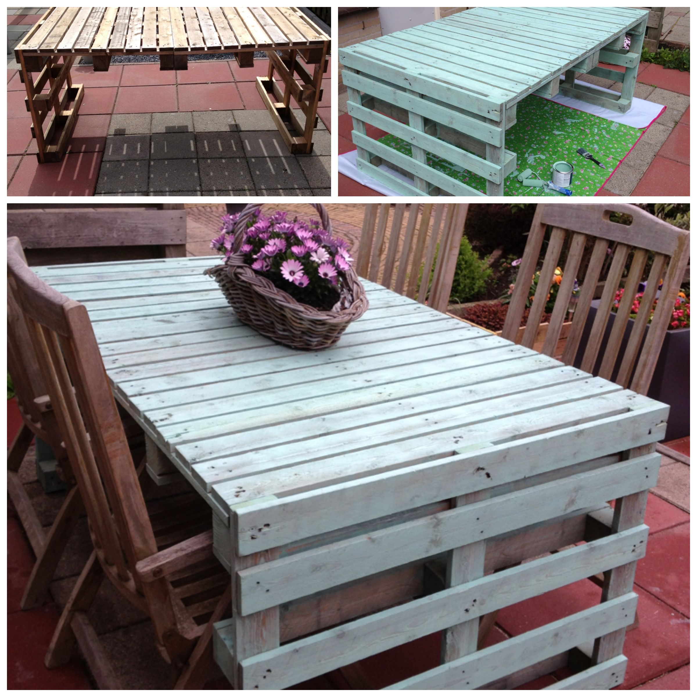 Diy Tuin Diy Tuintafel Van Pallets Danielleaarts Did It