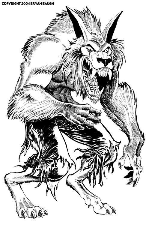 Werewolfs Monster Coloring Pages Halloween Coloring Pages Coloring Book Art