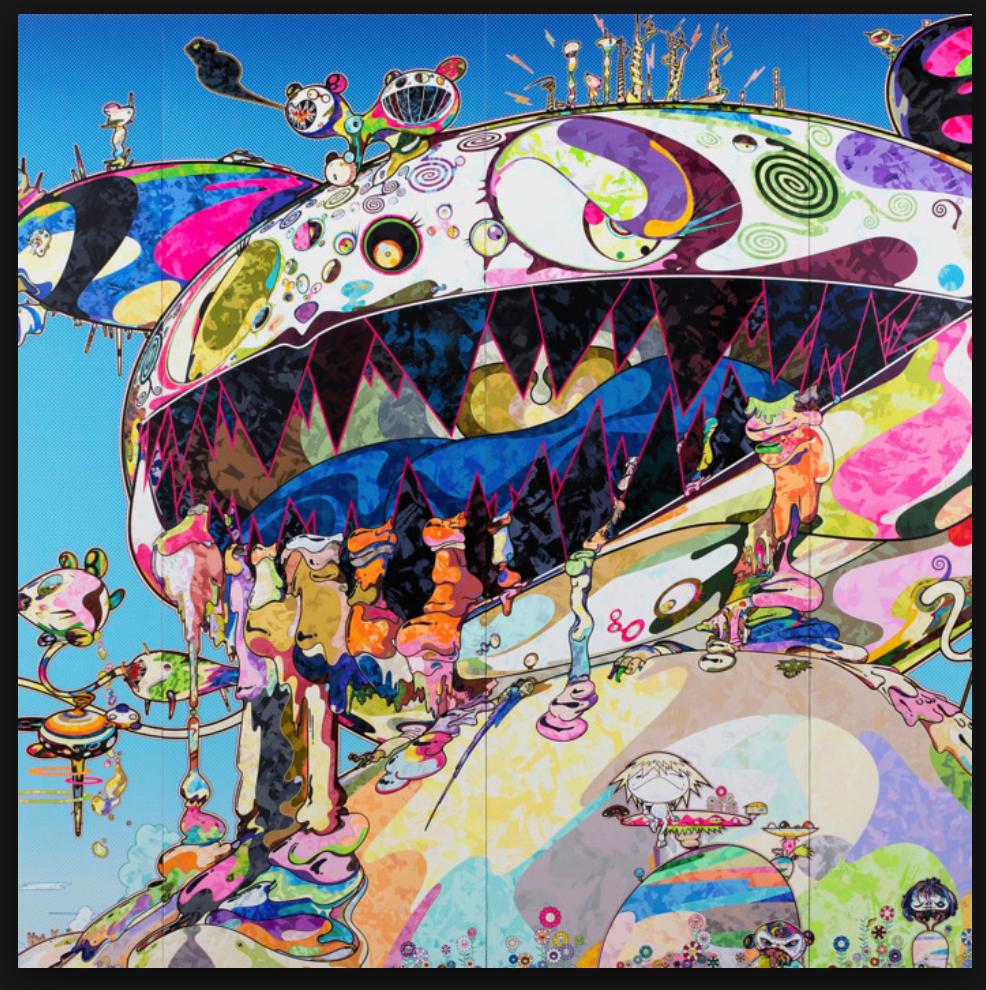 Pin By Sam Rogers On Contemporary Weird Art Takashi Murakami Murakami Japanese Artists