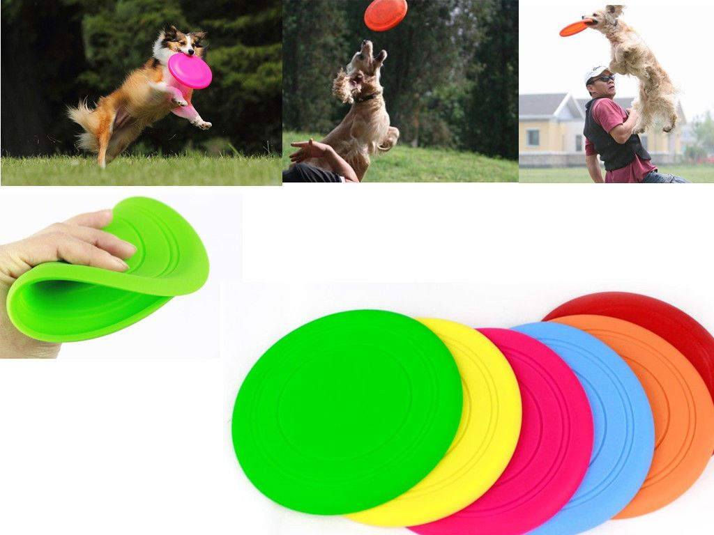 Dog Training Toy Frisbee Flying Disc Tooth Resistant Outdoor Large Dog Pet Fetch Toy
