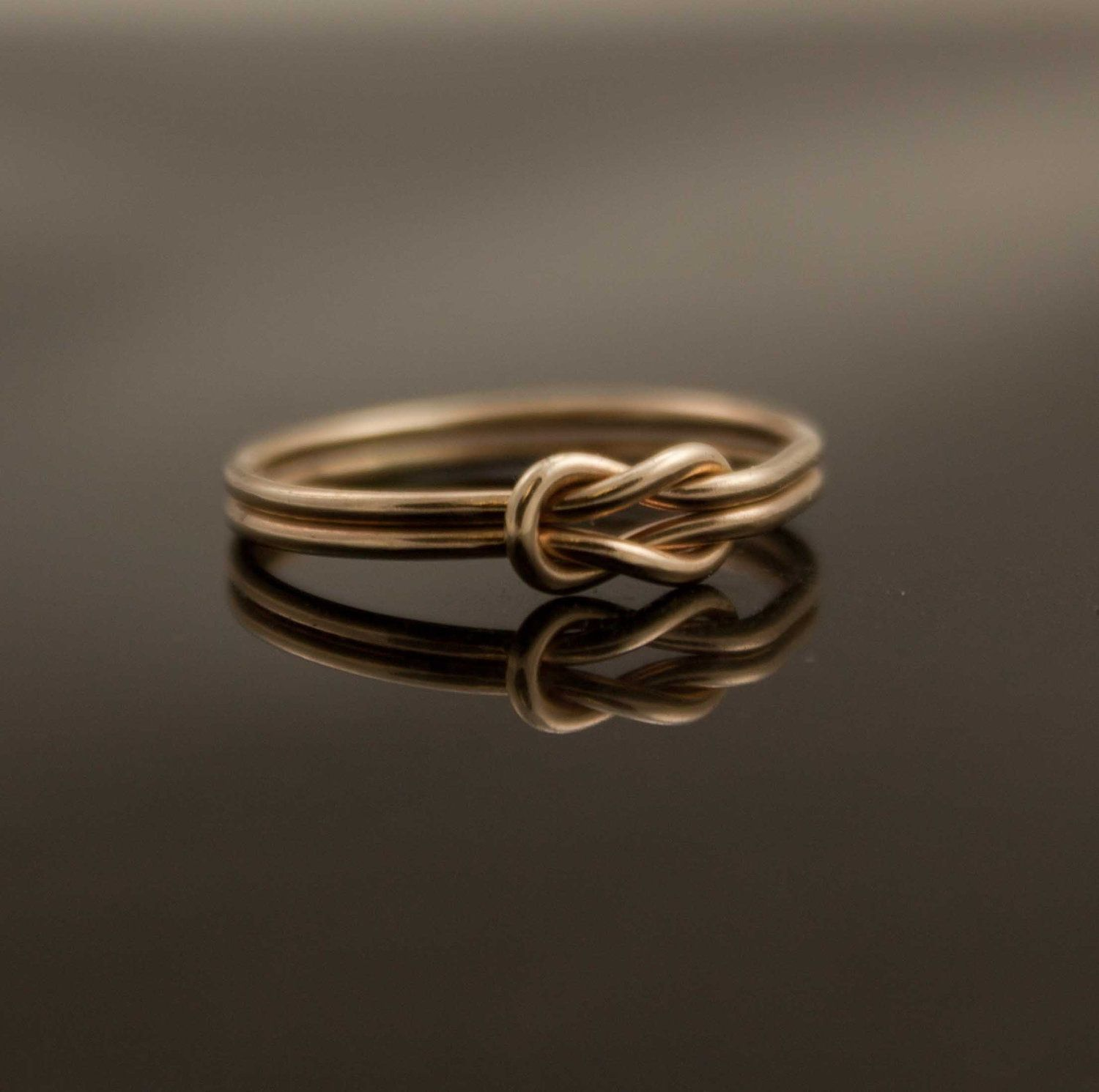 Solid 14k Gold Infinity Knot Ring Hug Ring Alternate Wedding Ring,  Engagement,mittment Promise