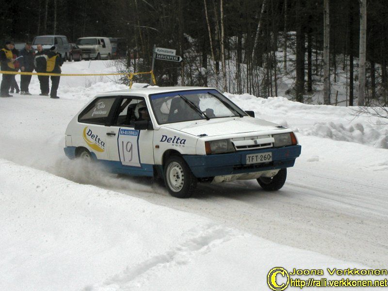 Keski-Suomen Alueralli 14.2.2004  Sami Juusonen / Minna Talso Lada Samara