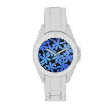 Hawaiian floral wrist watches