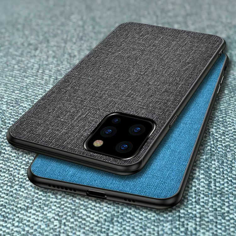 For iPhone 11 Pro Max Luxury Fabric Canvas Cloth Leather Soft Bumper Case Cover For iPhone 11 Pro Max Luxury Fabric Canvas Cloth Leather Soft Bumper Case Cover