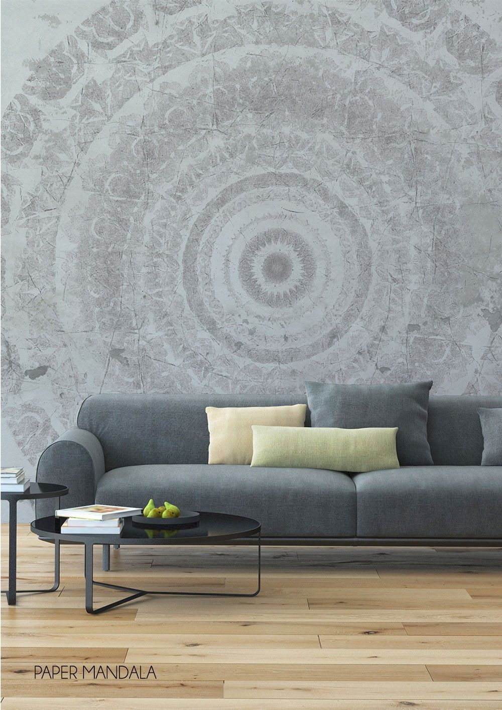 This Lovely Paper Mandala Wallpaper Mural By Behangfabriek Is Specially Designed For Those Who Dare To Be Different