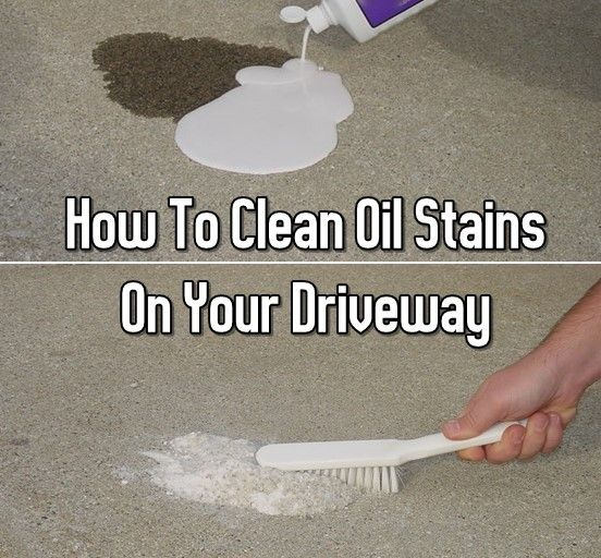 how to clean oil from concrete pavers