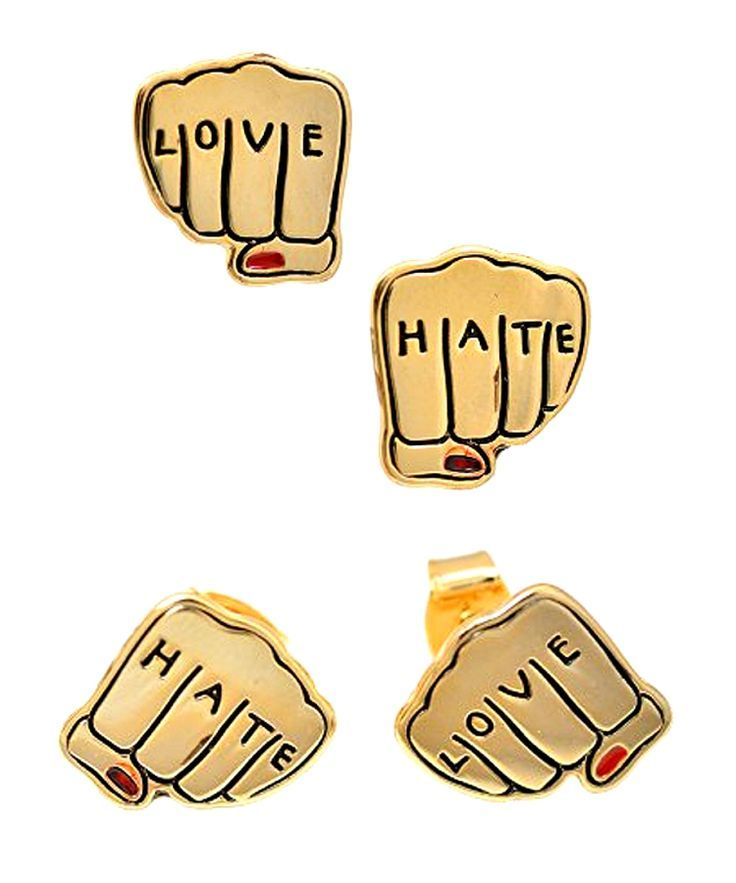 You're going to hate that you are starting to love these - get a pair of yours now. Check it out==> | Love and Hate Earrings | http://gwyl.io/love-hate-earrings/