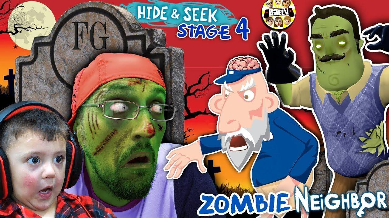 Zombie Hide N Seek Hello Neighbor Stage 4 Brainzzzz Gameplay