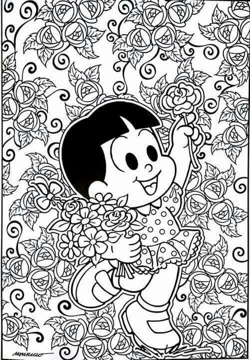 Rosinha Com Imagens Turma Da Monica Colorir Desenhos Para