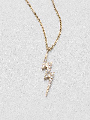 d37c41c164193 Diane Kordas Diamond Lightning Bolt Necklace | *Jewelry* | Lightning ...