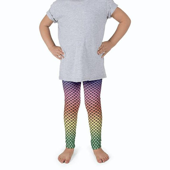 0169ad4cbccd12 Kids Leggings / Rainbow Leggings Kids / Mermaid Leggings Kids | Kids ...