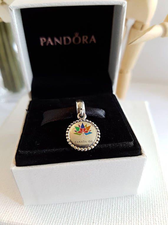 305272b6a STUNNING Authentic Pandora Canada 150 Birthday Charm Rainbow Multi ...