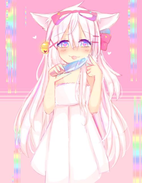 Random Doodles Neko Girl Anime Yandere