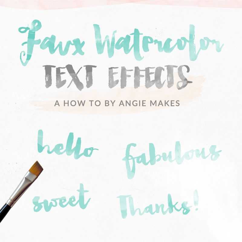 Watercolor Text Effect in Graphic Design