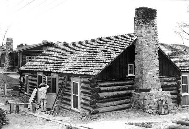 00628 Grand Canyon Historic Bucky Oneill Cabin 1935 Cabin House Styles Lodge