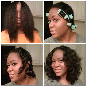 Twist And Curl On A Blowout Super Cute I M Gonna Try It Tonight I Did A Ponytail Rollerset Today I Know Now My Hair Styles Natural Hair Styles Relaxed Hair