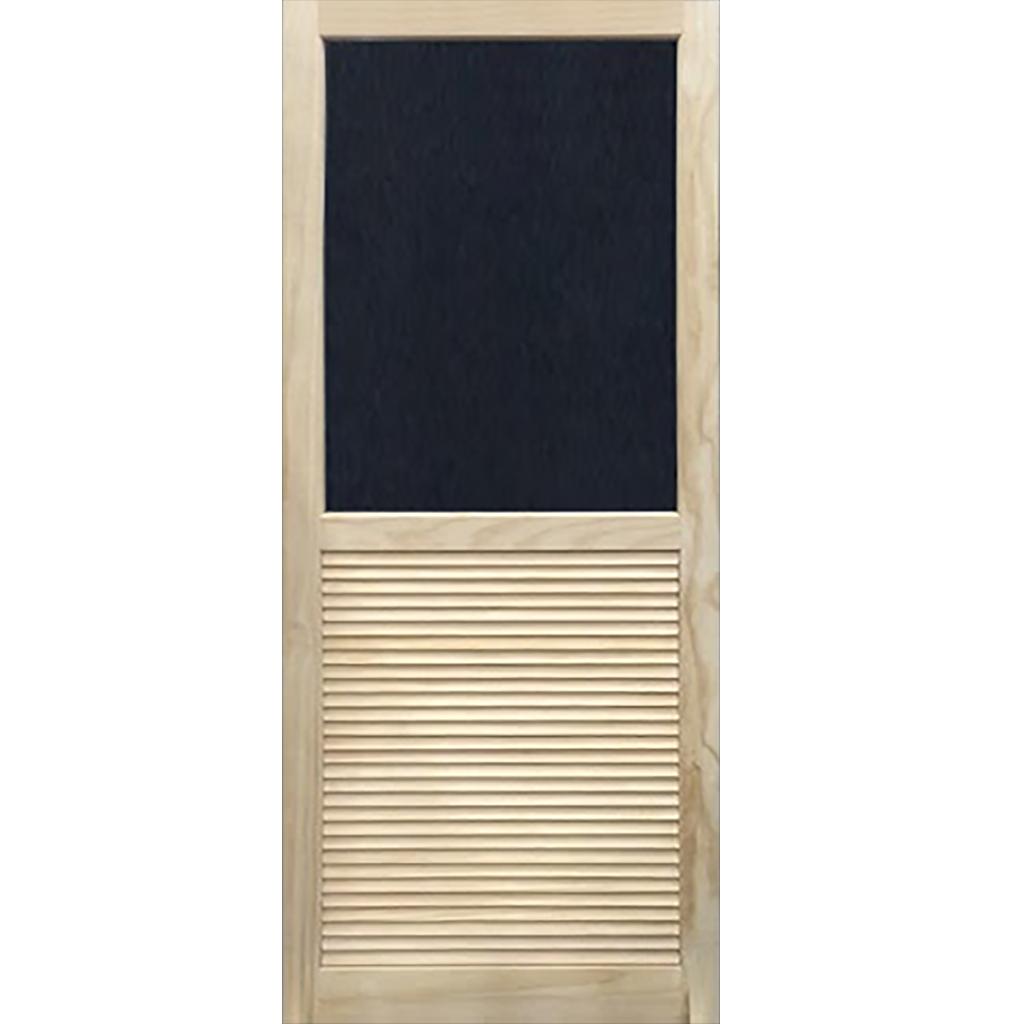 Screen Door Wood Louvered Stainable Exterior Doors Wood